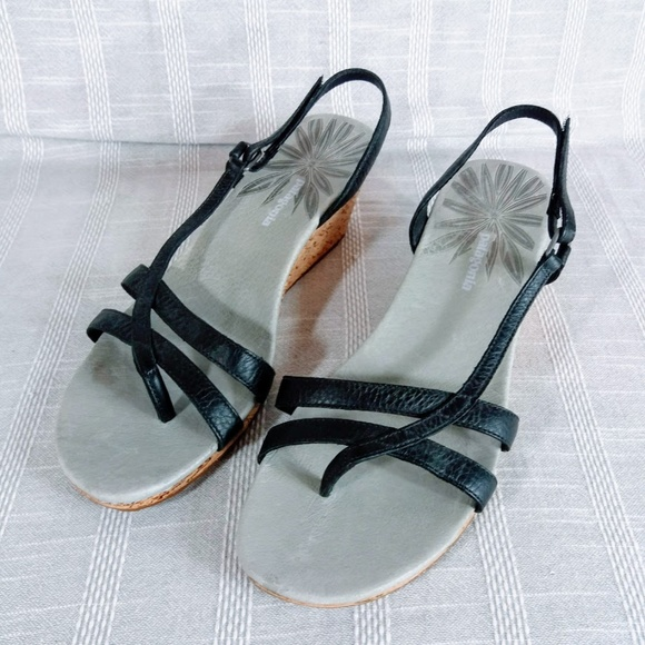 Patagonia Shoes - Patagonia Black Solimar Wedge Sling Sandals 10